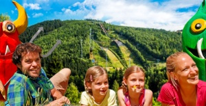 In August with family in Harrachov